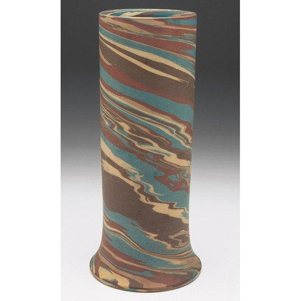 4: Niloak Missionware vase, large cylindrical
