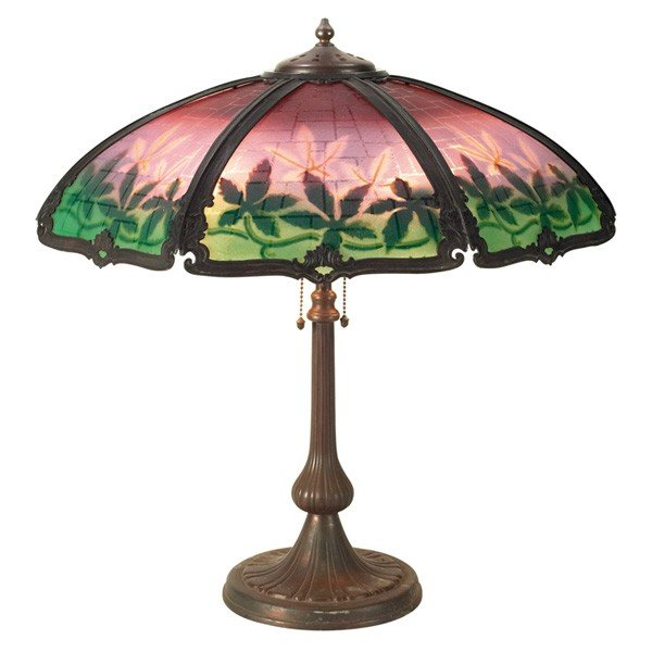 7: Handel table lamp, seven-sided shade