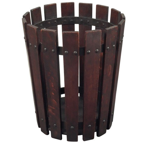 9: Gustav Stickley wastebasket, #94