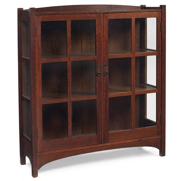 14: L & JG Stickley china cabinet, #728