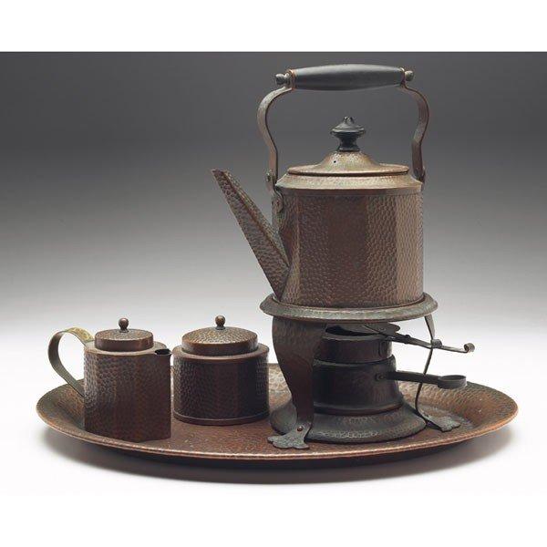 49: Joseph Heinrichs tea set, tray