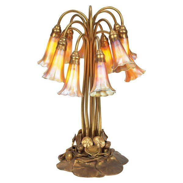426: Tiffany Studios twelve-light lily lamp