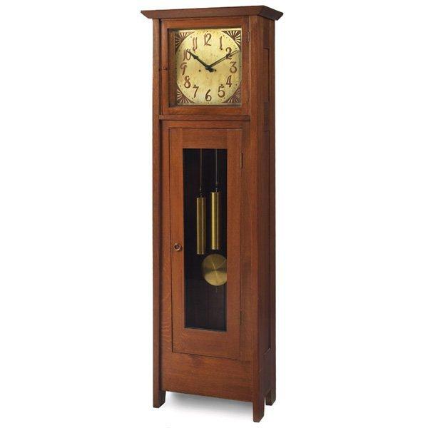 3: Gustav Stickley hall clock, Model No. 3