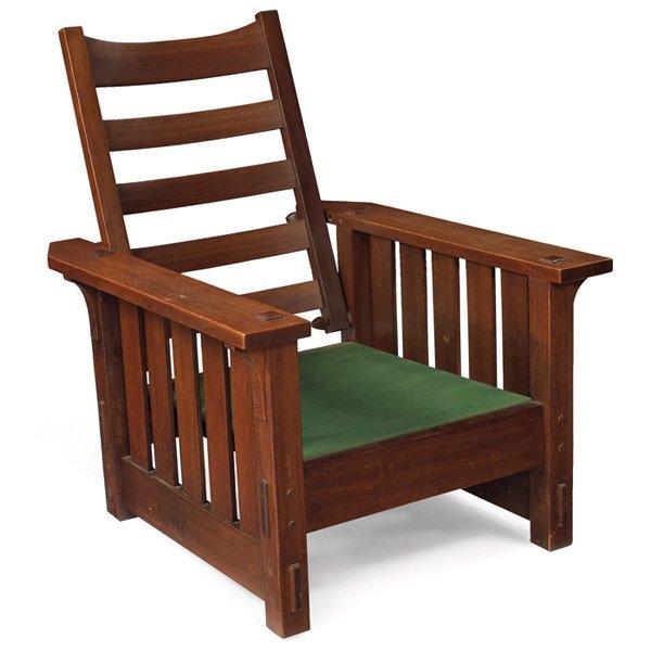 4:  Gustav Stickley Morris Chair, Model No. 2342
