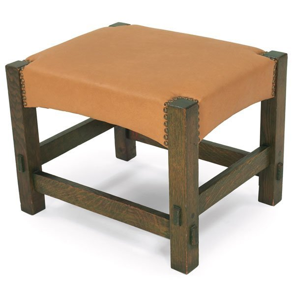 6: Gustav Stickley footstool, Model No. 729