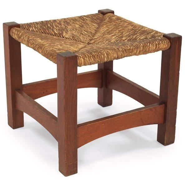7:  Gustav Stickley footstool, Model No. 728