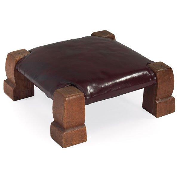 """9: Gustav Stickley """"monk"""" footstool, Model No. 302"""