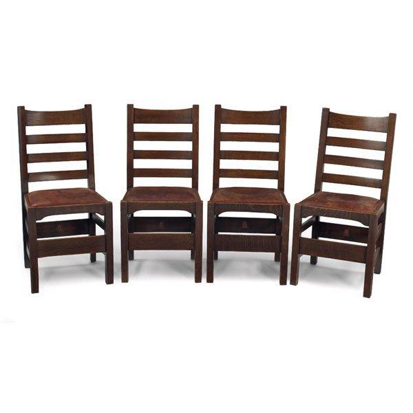 9A: Gustav Stickley chair, Model No. 1297