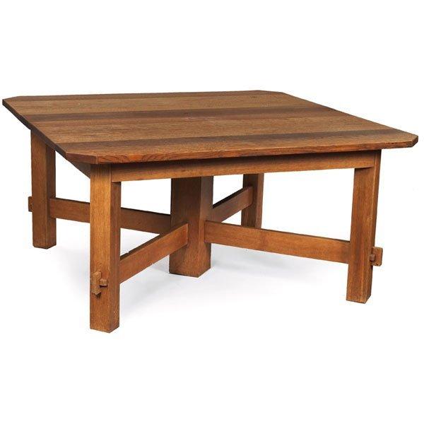10: Gustav Stickley dining table