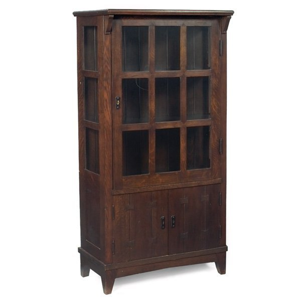 12: Gustav Stickley china closet