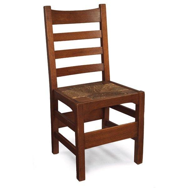 16: Gustav Stickley chair, Model No. 1297