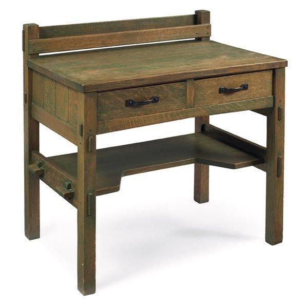 22: Gustav Stickley desk, uncataloged model