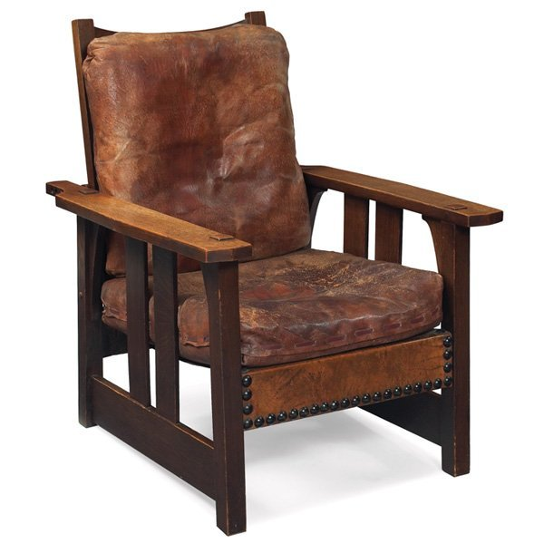 23:  Gustav Stickley Morris chair, Model No. 2341