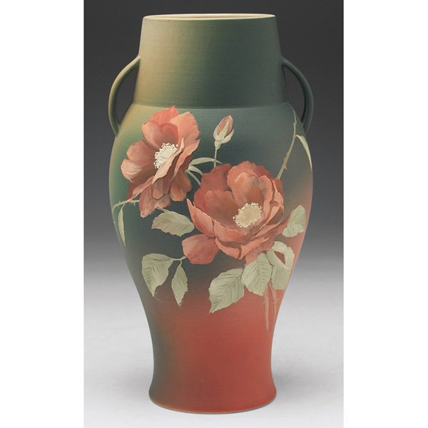 147: Rookwood vase, bisque glaze, Emma Foertmeyer, 1891