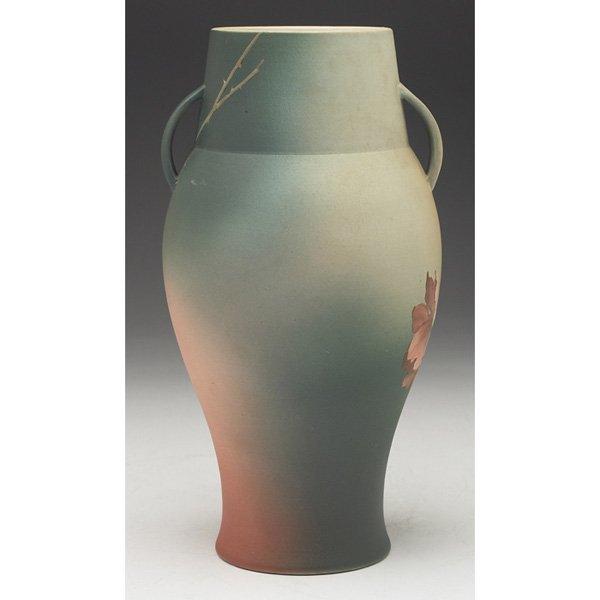 147: Rookwood vase, bisque glaze, Emma Foertmeyer, 1891 - 2