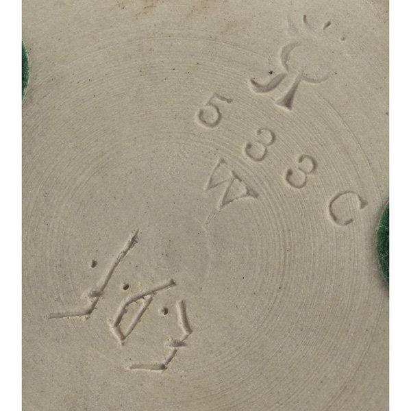 147: Rookwood vase, bisque glaze, Emma Foertmeyer, 1891 - 3