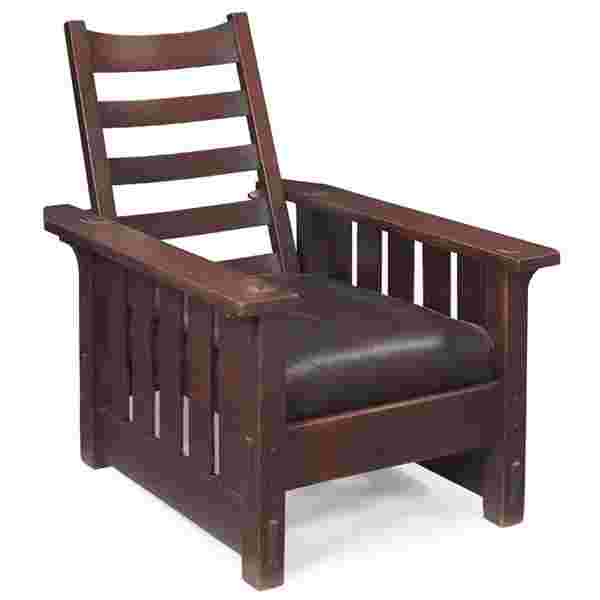 Terrific 318 Gustav Stickley Morris Chair 2432 Pabps2019 Chair Design Images Pabps2019Com