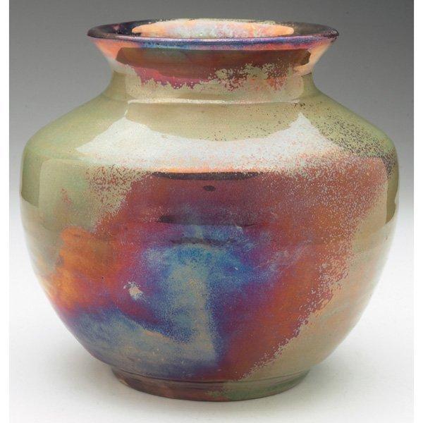 10: Pewabic vase, shouldered