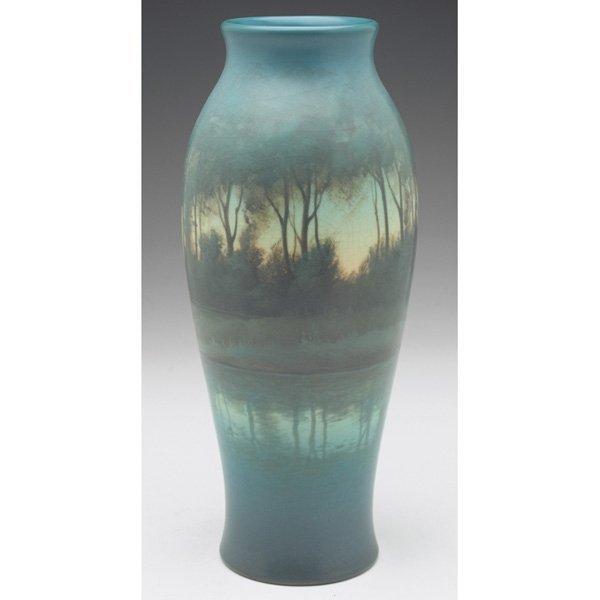 14: Rookwood vase, Vellum glaze, Carl Schmidt