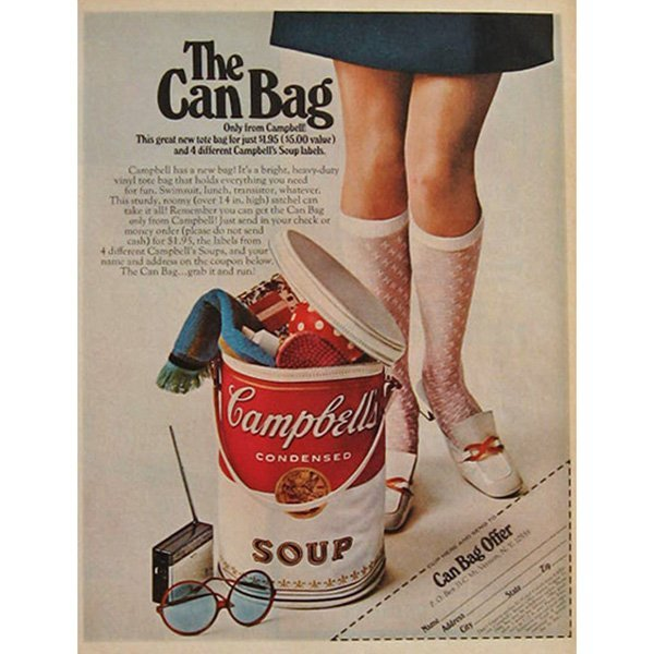"""908: (After) Andy Warhol """"Campbell's Soup Can tote bag, - 2"""