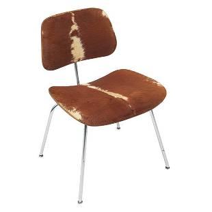 791: Charles & Ray Eames slunkskin DCM, Herman Miller