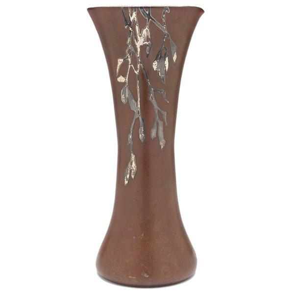Silver Crest vase