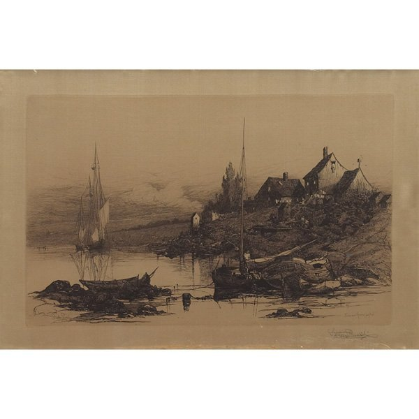 "Stephen Parrish (American, 1846-1938) ""Fisherman's Hous"