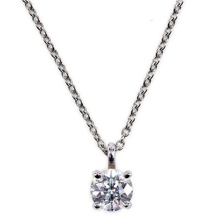 Tiffany Co Diamond Solitaire Necklace 38 Carats Mar 02 2013 Treadway Toomey Auctions In Il