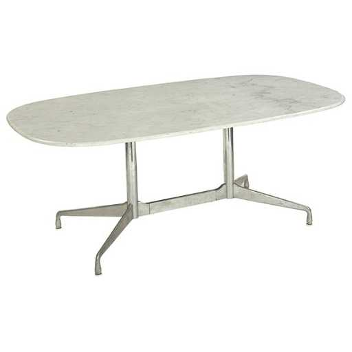 Charles And Ray Eames Diningconference Table Marble - Eames oval conference table