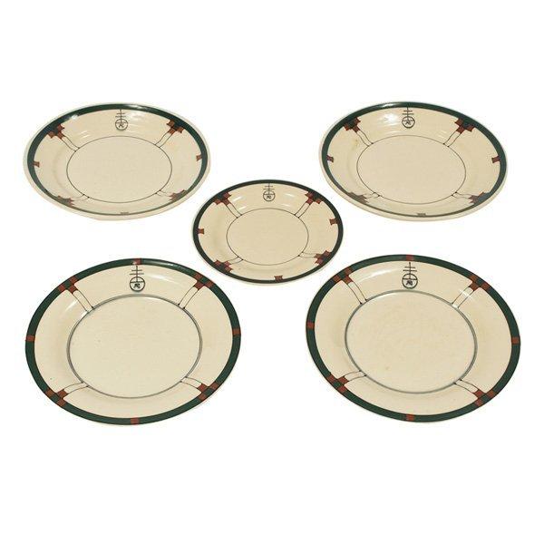 Buffalo Pottery Roycroft dishes