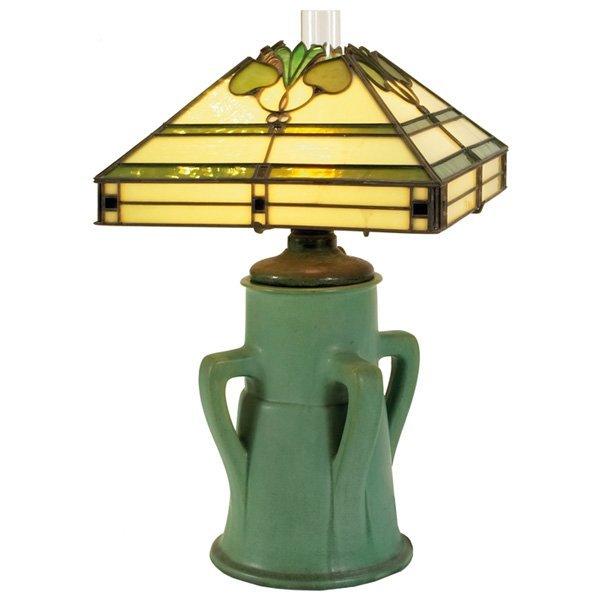 Teco lamp green matte glaze