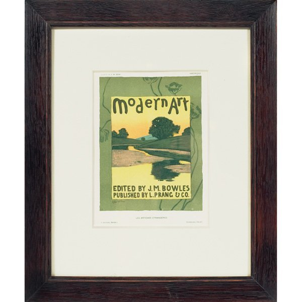 Arthur Wesley Dow Modern Art color lithograph