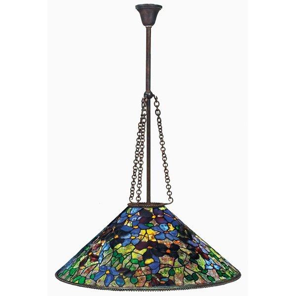 Tiffany Studios hanging shade Clematis pattern