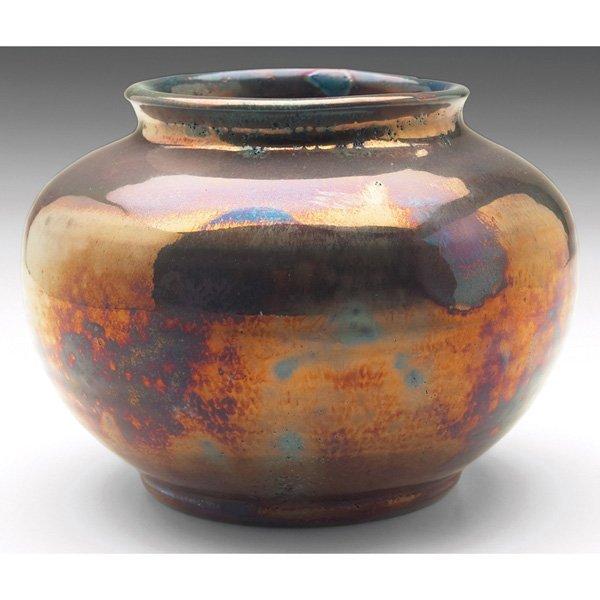 Pewabic vase metallic glaze