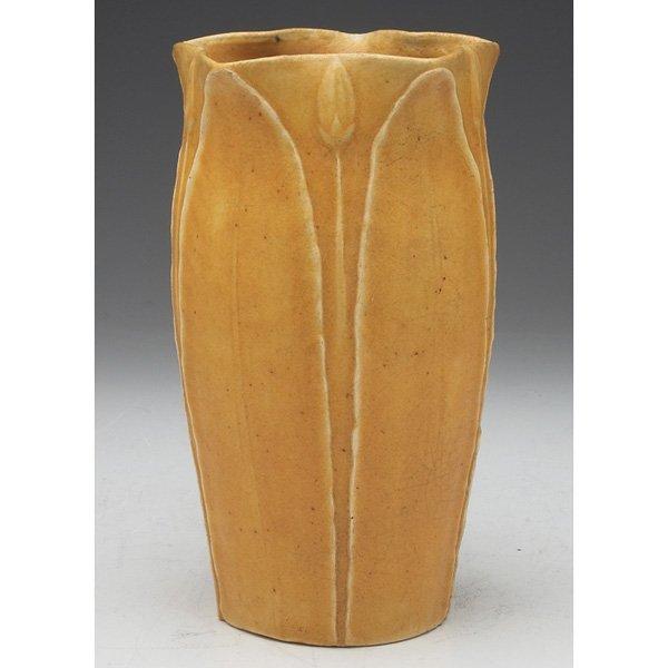 Grueby vase yellow matte glaze