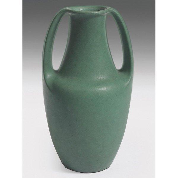 Teco vase green matte glaze #283