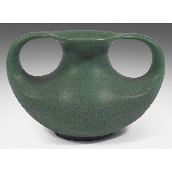 Teco vase green matte glaze #297