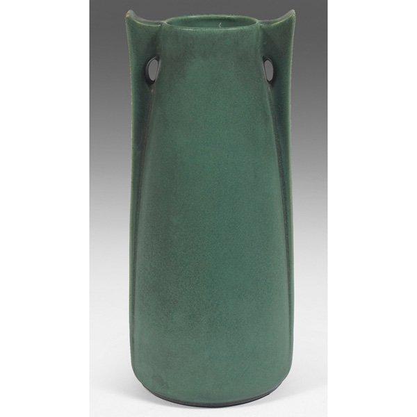 Teco vase green matte glaze #266