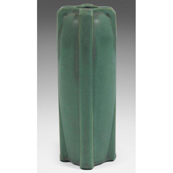 Teco vase green matte glaze #436