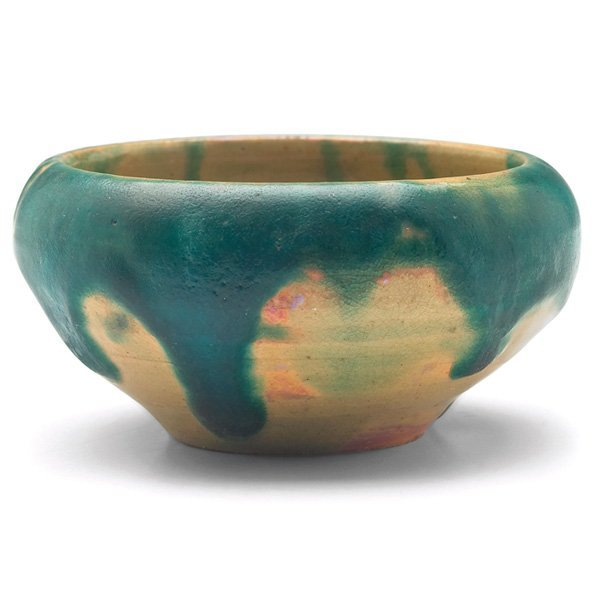 Pewabic bowl yellow metallic glaze
