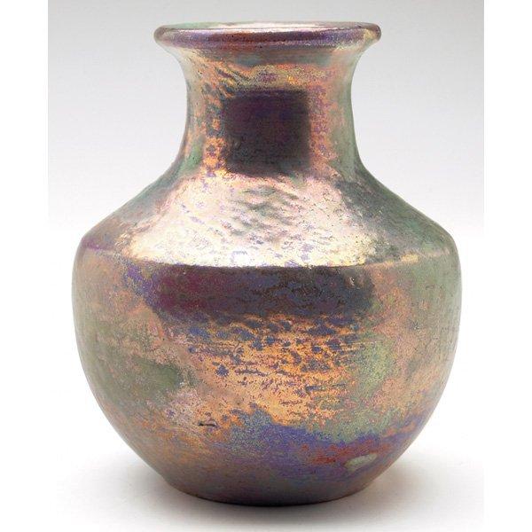 Pewabic vase purple green gray glaze