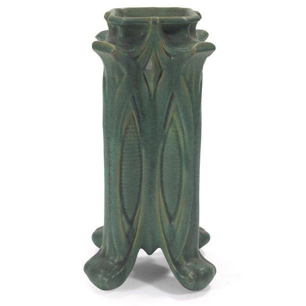 Teco vase #434 green matte glaze