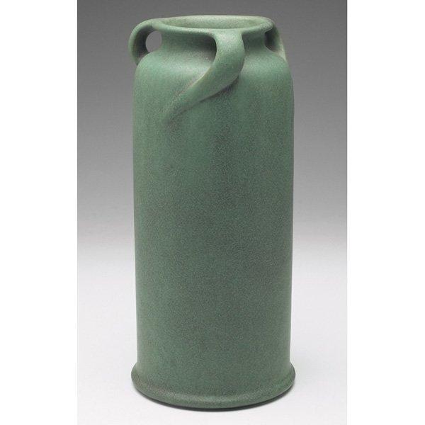 Teco vase #284 green matte glaze