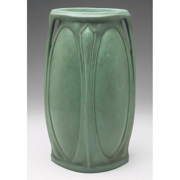 Teco vase #301 green matte glaze