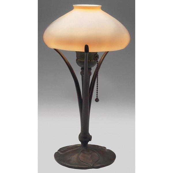 Tiffany Studios desk lamp Steuben calcite shade #426