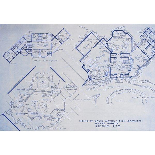 Mark Bennett lithograph, Bruce Wayne Manor - 2