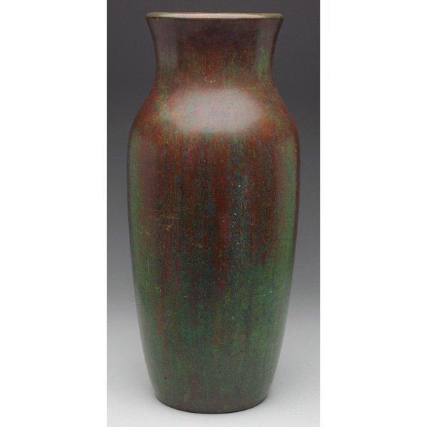 Clewell floor vase copper pottery