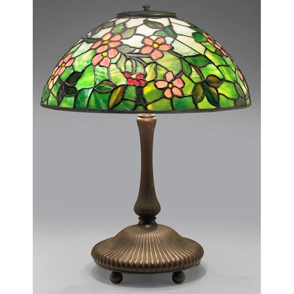 Tiffany Studios table lamp apple blossom
