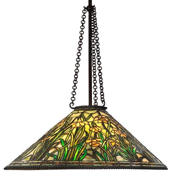 Tiffany Studios hanging fixture daffodil