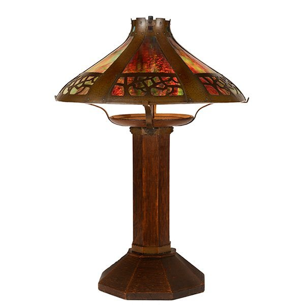 Gustav Stickley table lamp, 625